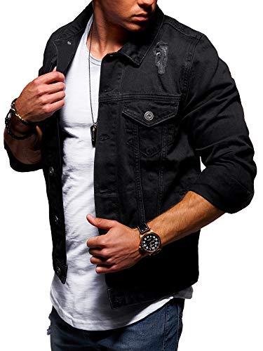 behype. Herren Jeans-Jacke Stretch Destroyed Übergangs-Jacke 55-0109...