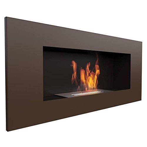 KRATKI Delta2 Bioethanol Fireplace, 90 x 40 cm, Brown