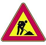 Signaux Routiers temporaires travaux en cours