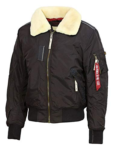 ALPHA INDUSTRIES Injector III Bomber Jacket | Vintage Brown Large 40' Chest