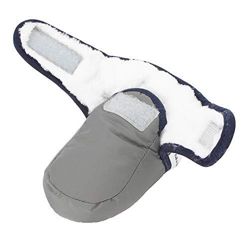 Lacofia Stivaletti morbidi invernali da bambino con suola morbida antiscivolo scarpe calde da neonata grigio 6-12 mesi