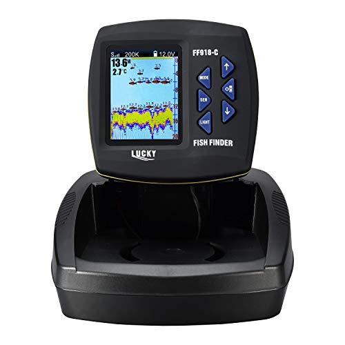 LUCKY Fish Finder per barca doppia frequenza schermo a colori Fishfinder kayak Fishing