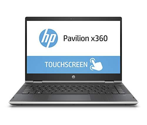 HP Pavilion x360 14-cd0602ng 35,56 cm (14 Zoll HD Touchdisplay) Notebook (Intel Pentium Gold 4415U, 8GB RAM, 256GB SSD, Intel UHD Graphics 610, Windows 10 Home 64) silber/schwarz