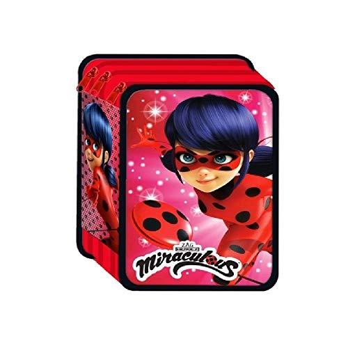 MadPrice Astuccio 3 Zip Lady Bug Miraculous Premium