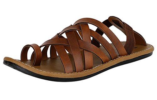 Kraasa Men's Tan Sandal-8