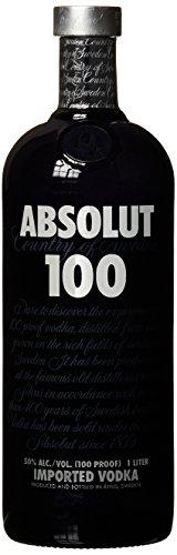 Absolut 100 – 50{cd309b069c95aebf41ae18c1a4a1f0f1ad517e2dd6c701d740a9981de362a1f9} Vol. Edel Wodka in eleganter schwarzer Flasche – Luxuriöses Genusserlebnis – 1 x 1 L