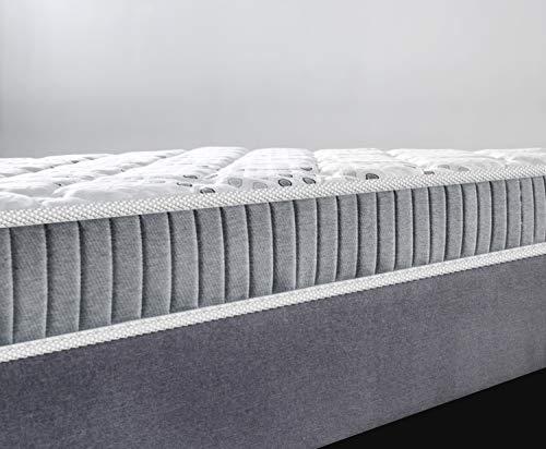Matelas Eliha 140x190cm - Double Technologie : Ressorts ensachés + Mousse Haute Densité - épaisseur Totale 20cm - Indépendance de Couchage -... 26