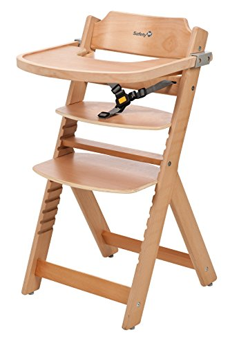 Safety 1st Timba Seggiolone con vassoio in legno (naturale)