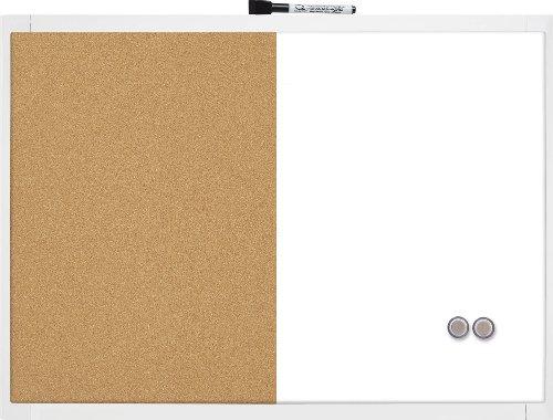 Quartet 1903784 Lavagna Magnetica Combinata, 585 x 430 mm, Colori Assortiti