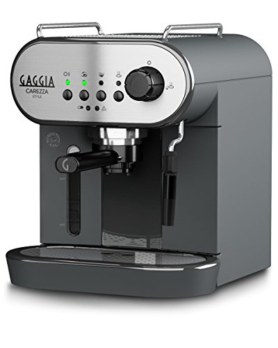 Gaggia Carezza Style water filter espresso coffee device (black) (2 months of Brita Intenza+) (1 cartridge) (1 cup, 2 cups) (15 bars) (Gaggia Pods, Illy ESE pods)