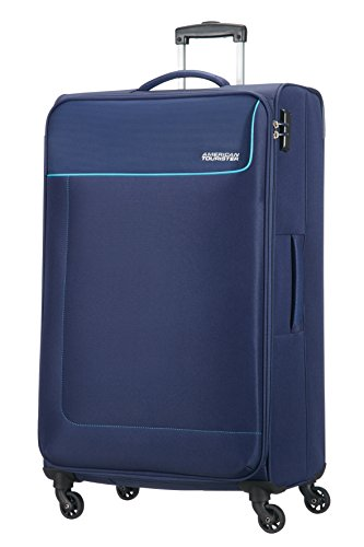 American Tourister Funshine Spinner Bagaglio a mano, 79 cm, 99.5 Liter, Orion Blue (Blu)