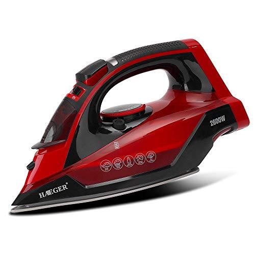 Ferro da Stiro Wireless HG-1299 2600w, Suola Microsteam 400 HD, Getto di Vapore 210 g/min e Vapore...