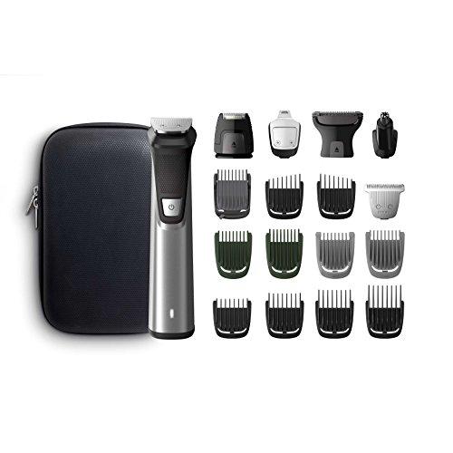 Philips 7000 MG7770/15 Grooming Kit Rifinitore Impermeabile in Acciaio, 18 in 1, Utilizzabile sotto la doccia, Barba, Capelli e Corpo