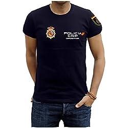 Camiseta Policia Nacional Opositor (M, Azul Marino)