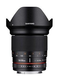 Samyang 20mm F1.8 ED AS UMC Olympus 4/3 SLR - Objetivo (SLR, 13/12, Objetivo ancho, 0,2 m, 2 cm, APS-C)