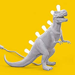 Seletti Jurassic Lamp Rex Lámpara de mesa Rex con forma de dinosaurio blanco