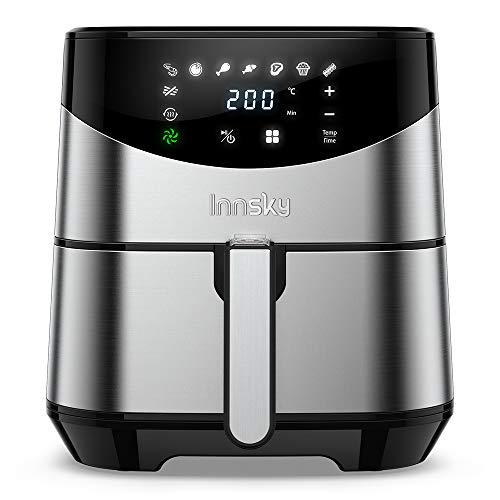 5.5L Friggitrice ad aria calda (ricettario plurilingue), 8 Programmi Preimpostati, friggitrice senza...