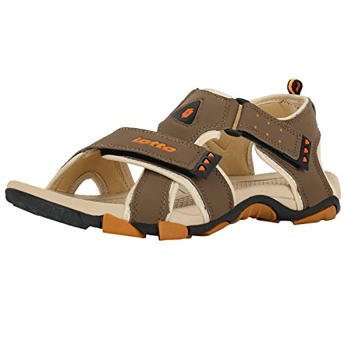 Lotto Men's Olive and Yellow Sandals and Floaters - 8 UK/India (42 EU)