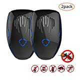 Yoart Ultrasonic Pest Repeller Plug In Pest Control Indoor Insect Repellent Against Mice, Rats, Mosquitoes, Spiders, Flies (2 Pack)