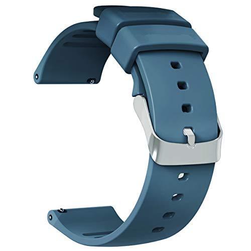 JIELIELE Cinturino 22mm, Braccialetto Morbido Sportivo di Ricambio in Silicone per Samsung Gear S3 Frontier(22mm, Navy Blue)