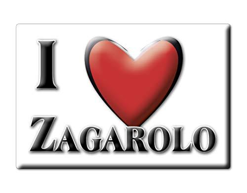 Enjoymagnets ZAGAROLO (RM) CALAMITA Magnete Lazio Souvenir I Love Idea Regalo