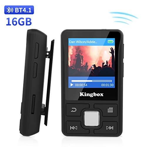 Lettore MP3 16GB Bluetooth 4.1 Mini Sport MP3 Player,Portatile Lossless musica con Radio FM, Foto...