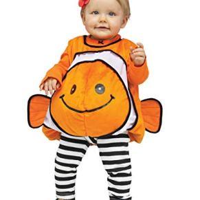 Horror-Shop Traje de bebé Nemo Clownfish Naranja