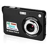 CamKing Digitalkamera, 2,7 Zoll TFT LCD HD Mini Digitale Kompaktkameras, 21 MP HD Zoom Videokamera für Rucksacktouren, Erwachsene/Senioren/Kinder(Schwarz)