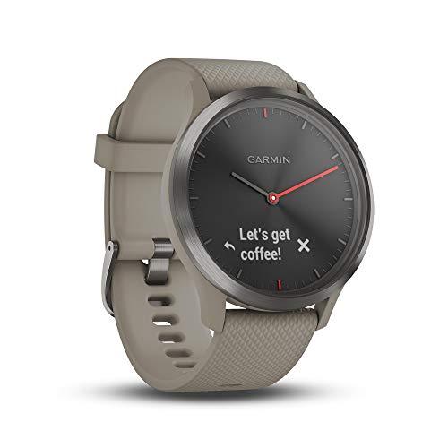 Garmin Vívomove HR Orologio Smart Analogico con Schermo LCD, Nero / Sabbia