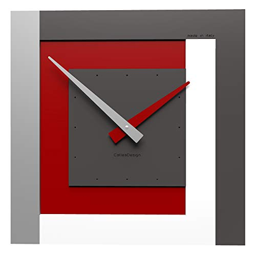 CalleaDesign - Clock40 Orologio da Parete Rubino - Collezione Stripes