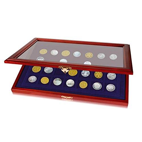 Münzen-Vitrine für 15 Münzen bis Durchmesser 55 mm
