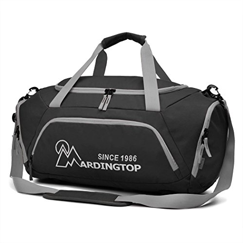 Mardingtop Multi Sports Bag Gym Duffle Holdall Overnight Travel Luggage With Zippered Shoes Compartments