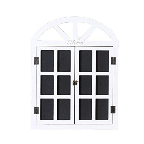 Whchiy da muro con finestra a forma di lavagna in legno Message Board Sign antico singolo lato...