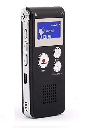 MonoDeal Registratore Vocale Portabile,8GB multifunzionale Digital Audio Voice Recorder ,con porta...