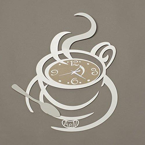 Orologio ' Al Bar' colore bianco di Arti e Mestieri
