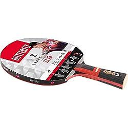 Butterfly Zhang Jike Zjx6 Wakaba - Bate de Tenis de Mesa, Color Negro y Rojo