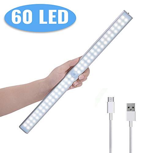 Luce Notte LED Sensore Movimento,Lacyie 60LED Luce per Armadio,Luci Portatile USB Ricaricabile...