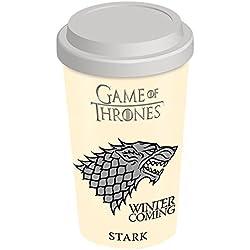 Game of Thrones – taza de viaje de Juego de Tronos de la Casa Stark, multicolor