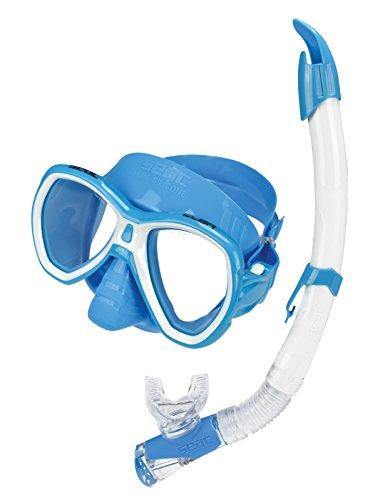 Seac Set Elba Color, Kit maschera sub e boccaglio per snorkeling