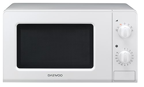 Daewoo KOR-6F07 Microonde Digitale Doppio Piatto, 700 W, 20 Litri, Bianco
