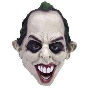 YC Dark Knight Clown Mask, Novela Máscara De Látex De Batman, Máscara De Halloween para Adultos Cosplay Disfraces De Disfraces, Talla Única