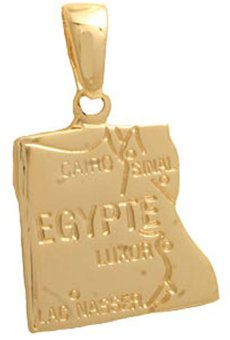 Cyllene Fantaisie–Colgante Chapado En Oro Egipto