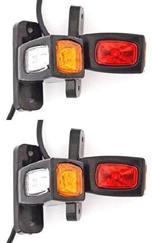 4 luci di ingombro posteriore per rimorchio, 12 V-24 V camper Van camion Caravan Chassis, colore:...