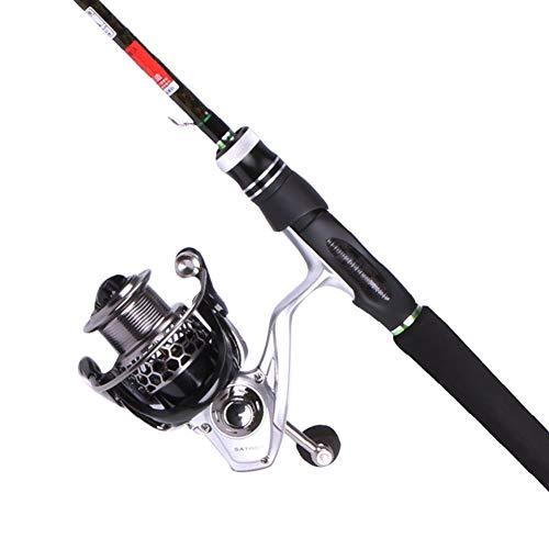 Canna da pesca telescopica in fibra di carbonio al 99% 2.1/2.4M Canna da pesca telescopica Canna da pesca portatile per spinning da viaggio Kit per canna da pesca d'acqua dolce con acqua di mare-D-2