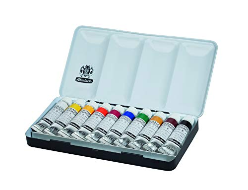 Schmincke HORADAM Gouache colores en caja de metal, 10x 15ml (0,56/ML)