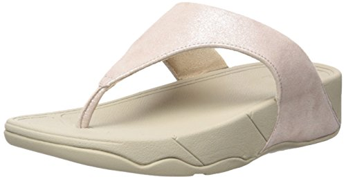 Fitflop Lulu Tm Shimmersuede Infradito Donna, Rosa (Nude), 38