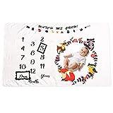 Couverture Mensuel Bébé Animaux Forêt Nouveau-né Mensuel Milestone Baby Photo Couverture Cadeaux Douche pour Garçons ou Filles