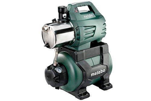 Metabo Hauswasserwerk HWW 6000/25 Inox (1300W, 5,5 bar, 24 l, Fördermenge 6000 l/h, Rückschlagventil, Start/Stop Automatik - Hauswasserautomat mit Trockenlaufschutz) 600975000