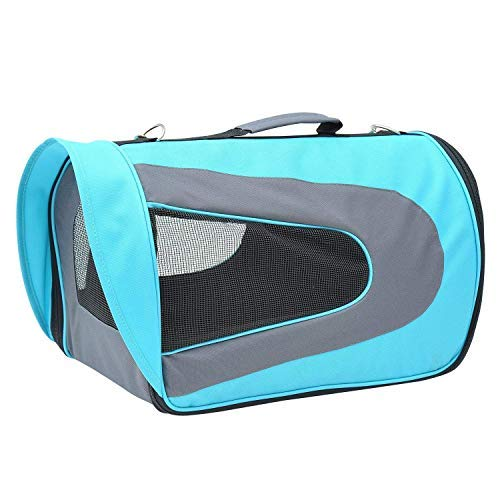 Emily Pets Soft-Sided Airline Approved Pet Travel Carrier for Cats, Small Dogs, Puppies and Pets (Blue)