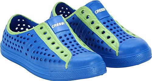 Cressi Pulpy Shoes Scarpette Mare Scogli e Piscina per Adulti e Bambinix, Blu Royal/Kiwi, 27